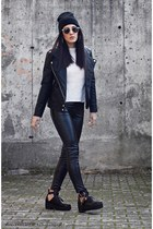 dark gray Chicwish boots - Martofchina jacket - JollyChic pants