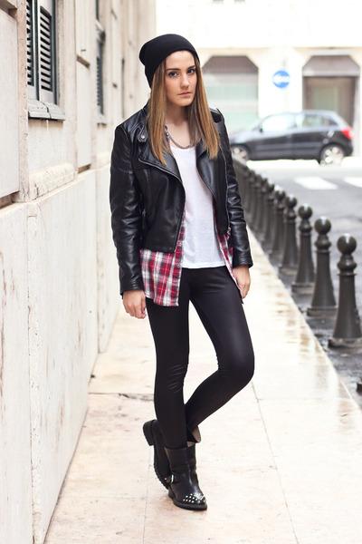 leather Sheinside jacket
