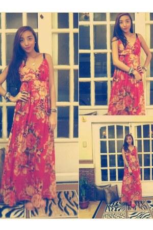 denim jacket Bayo jacket - maxi dress Forever 21 dress