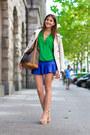 Green-zara-shirt-beige-trench-burberry-coat-gold-bow-lumo-ring