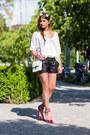 Brochu-walker-sweater-leather-shorts-sequin-studio5-heels