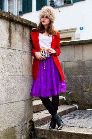 obi chicnova belt - coat - tulle romwe skirt