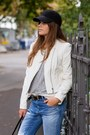 Black-lacoste-bag-blue-zara-jeans-white-leather-yas-jacket