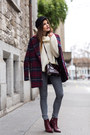 Brick-red-zign-boots-brick-red-tartan-coat-heather-gray-cheap-monday-jeans