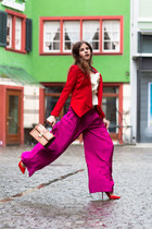 MCM bag - joseph blazer - Jimmy Choo pumps - wide leg pants