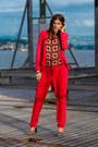 Red-mango-blazer-red-mango-pants-zebra-fortuna-valentino-heels