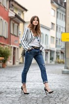blue Wildfox jeans - blue striped blackfive blazer