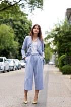 sky blue Front Row Shop blazer - sky blue Front Row Shop pants