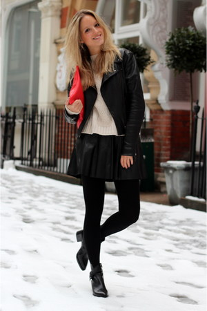 black Alexander Wang boots - black PAUW jacket - black Wolford tights