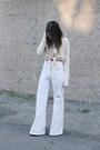 White-wide-leg-mango-jeans-cream-tie-front-charli-london-jumper