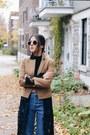 Navy-girlfriend-topshop-jeans-brown-topshop-blazer