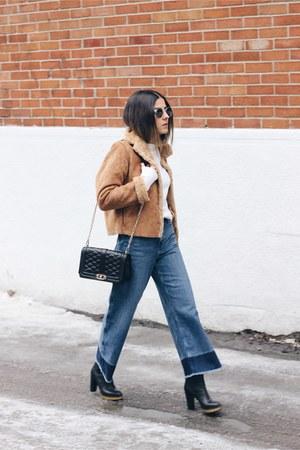 black love Rebecca Minkoff bag - blue wide leg H&M jeans
