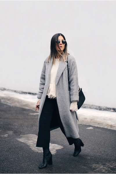 Black-sock-boots-zara-boots-heather-gray-wool-zara-coat