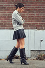 Black-zara-boots-heather-gray-felt-asos-sweater