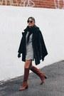 Crimson-zara-boots-heather-gray-mango-dress-black-persian-lamb-vintage-coat