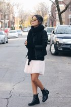 black Smart Set jacket - black Zara boots - black Smart Set sweater