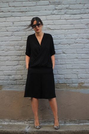 black culottes Topshop shorts - black vintage sunglasses