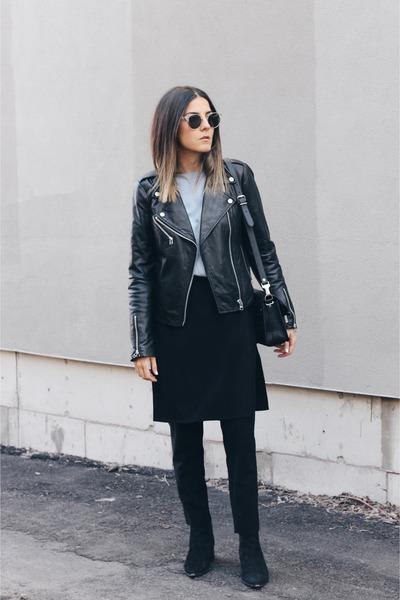 8d2a5757fb8d Black Apron Front Row Shop Pants, Black Jensen Acne Boots