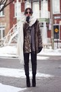 Black-lennon-2-zara-boots-light-brown-nasty-gal-coat-heather-gray-zara-scarf