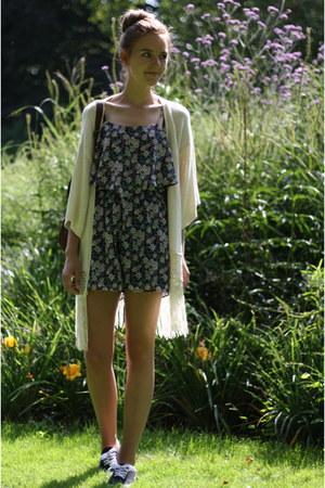 floral Primark romper - ivory jacket