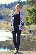 hot pink floral Only blazer