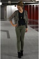 Primark boots - Primark blazer - Primark pants - DIY necklace