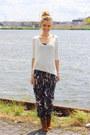 Tawny-suede-zara-boots-white-knitted-zara-sweater-dark-brown-print-h-m-pants