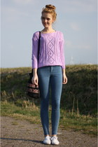 light purple Choies sweater