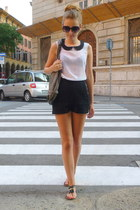 white Vero Moda top - black H&M shorts