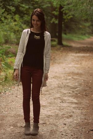 beige Primark shoes - cream H&M garden collection coat
