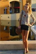 Zara blouse - Primark bag - H&M shorts - H&M flats