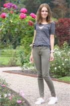 army green skinny Primark jeans