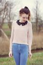 Tawny-zara-boots-heather-gray-h-m-coat-blue-topshop-jeans