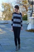 Isabel Marant boots - H&M jeans - Mango sweater