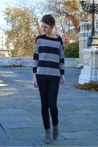Isabel Marant boots - H&M jeans - Mango sweater