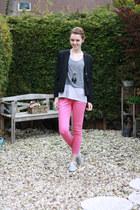 hot pink Zara pants