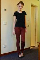 brick red Primark jeans