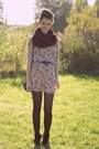 Ankle-boots-primark-boots-thrifted-vintage-dress-knitted-primark-scarf