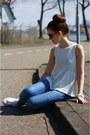 Zara-jeans-white-zara-top