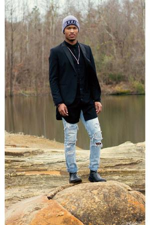 black tuxedo blazer Forever 21 blazer - black H&M shirt
