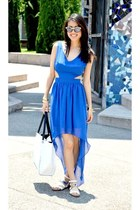 blue asos dress