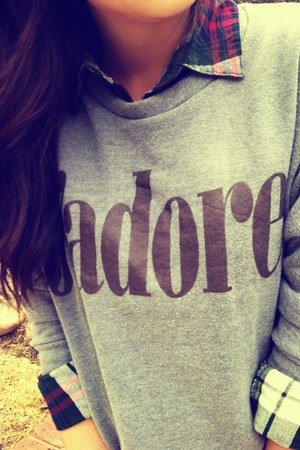 heather gray Korean sweatshirt