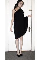 black Gap dress - black Steve Madden shoes - black H&M scarf