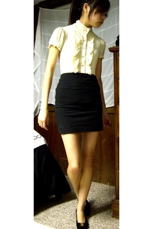 shirt - Urban Outfitters skirt - ferragamo shoes