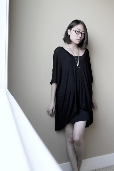 black BABOOSHKA dress - black BDG skirt - silver Etsy accessories
