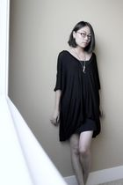 black BABOOSHKA dress - black BDG skirt - silver Etsy accessories