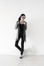Gray-zara-cardigan-black-uniqlo-shirt-black-delias-jeans-black-aldo-shoes