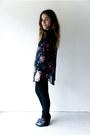 Black-sheer-floral-vintage-gap-blouse-black-leather-suede-dolce-vita-wedges
