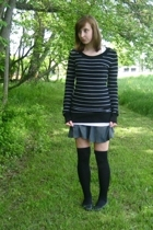 H&M sweater - forever 21 tights - American Apparel skirt