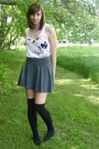 forever 21 shirt - American Apparel skirt - China shoes